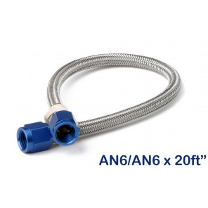 6AN-20 FT. HOSE, BLUE