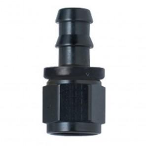 6AN Straight Black Push Lock Hose End Fragola 8000 Series # 6 AN