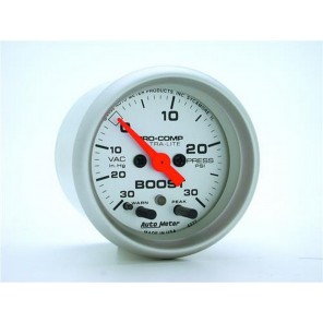 "Auto Meter Boost Vacuum Gauge 4377 Ultra-Lite 30 inHg-30 PSI 2-1/16"" Electrical"