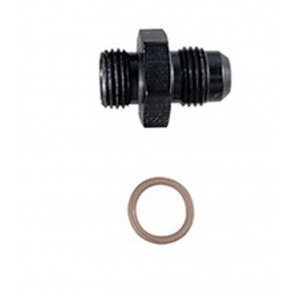 4AN to 8 AN ORB Fragola Black Radius Taper Port Adapter Fitting