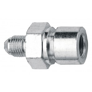 Fragola #4 X 7/16 - 24 Steel Tubing Adapter 4AN