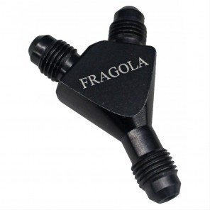 Fragola 8AN TO 6AN Black Billet Flare to Flare Y Fittings Nitrous Oxide Fuel System 8 6 AN