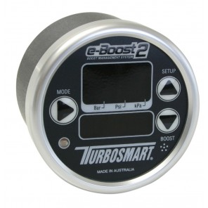 Turbosmart eBoost2 eB2 60mm Black Face Silver Bezel Boost Controller