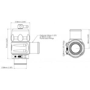 Turbosmart BOV Plumb Back Uni 38mm-Black Blow Off Valve