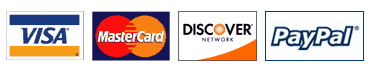 Racing Innovation & Supply proudly accepts Visa, MasterCard, Discover, and PayPal.