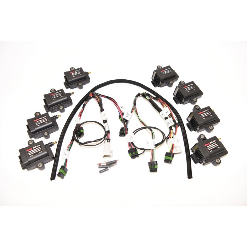 Buy Holley 8 Cylinder Smart Coils Kit w/ Coil Harness HP Dominator