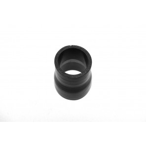 "1.75"" to 2"" Reinforced Silicone Reducer Black Hose Coupler 45mm 51mm Intercooler"