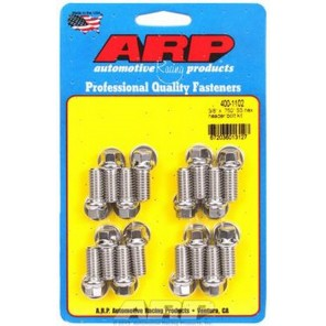 ARP 6 pt Stainless Steel Header Bolts Hex Head 3/8-16 BIg Block Chevy Ford