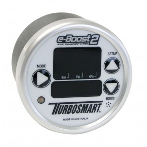 Turbosmart eBoost2 eB2 60mm White Face Silver Bezel Boost Controller