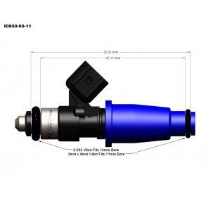 Injector Dynamics ID850 injectors 850cc Toyota Supra 7M-GTE 2JZ-GE Lexus GS300 IS300 SC300 3000GT GTR R32 R33 R34 11mm 6 Pack