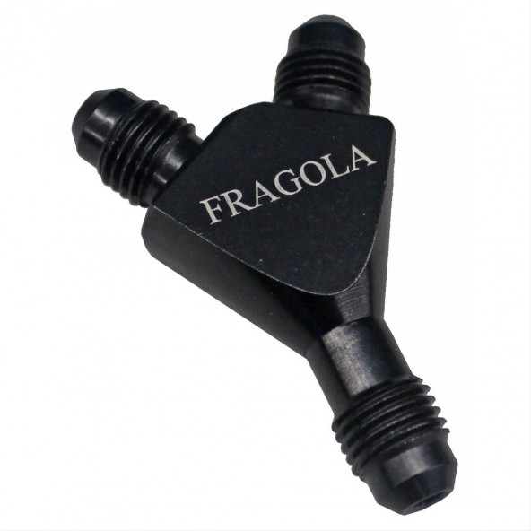8AN to 10 ORB Fragola Black Radius Taper Port Adapter Fitting